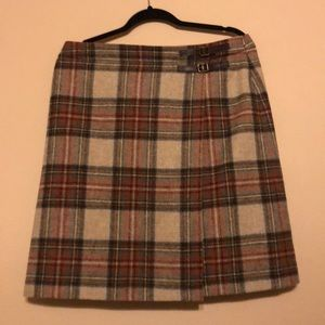 Boden Wool Plaid Skirt Size US 12 L